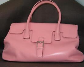 Adrienne Vittadini Pink Italian Leather Handbag