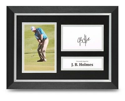 J. B. Holmes Signed A4 Framed Photo Display Golf Autograph Memorabilia COA