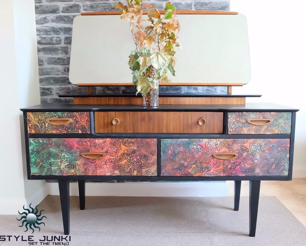 G plan shabby chic retro decoupage dressing table hippy for G plan bedroom furniture