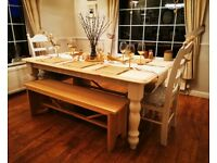 Farmhouse Table And Chairs For Sale In Derbyshire Dining Tables Chairs Gumtree