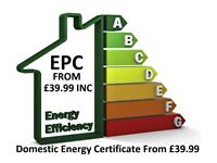 Energy Performance Certificate EPC domestic from £39.99 inc VAT