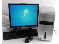 Dell (PC, Monitor, K/M) 4GB Ram, Radeon HD 3450, AMD X2 5600+, Gaming PC, Desktop PC, HDMI, Computer