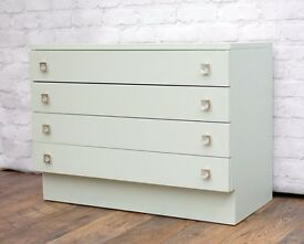 1960's Chest of drawers upcycled and painted Laurel Green