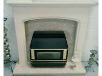 Good quality complete fire place with valor gas fire in vgc can deliver 07808222995