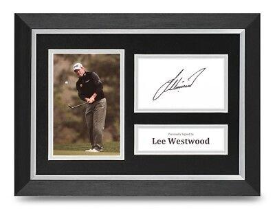 Lee Westwood Signed A4 Framed Photo Display Golf Autograph Memorabilia + COA