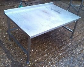 Stainless Steel Table.Catering Equipment,Work Bench 120cm X 80cm Height:55 cm