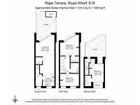 Brand new luxury townhouse - 3beds -3baths 3 floors Balcony +Private garden -GYM -Royal Docks E16 JS