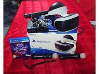 Playstation 4 Virtual Reality PS VR Complete Set (Headset, Camera v2, 2x Move Controllers and Game)