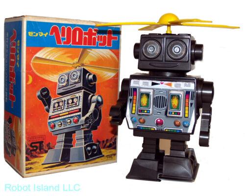 Vintage Japan Robot Windup Prototype Heli-Robot Horikawa Shinji Miyazawa