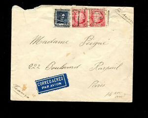 Spain Spanish Civil War 1937 International Brigades Airmail  cover to Paris