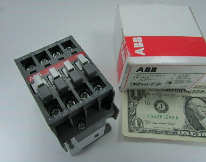 ABB 3-Pole Motor Control / Lighting Contactors, A9-30-01, 1SBL141001R8401 120VAC