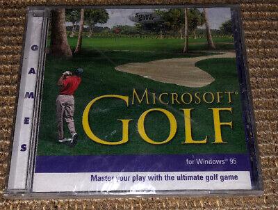 Microsoft Golf PC Game for Windows 95 - VTG 2000 Golf Simulator New Golf Simulation Game
