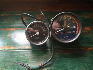 Cafe Racer Vintage Kawasaki Motorcycle Speedometer + Tachometer Summer Hill Ashfield Area Preview