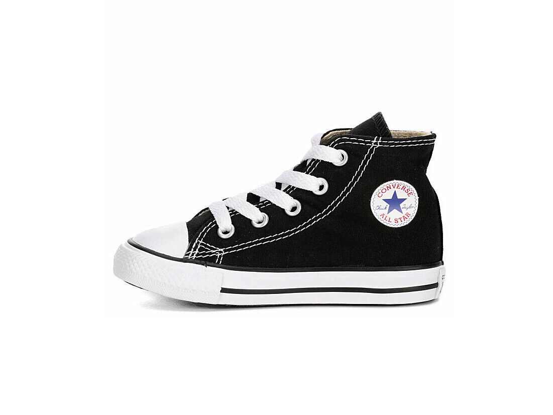 Converse All Star Hi Black Shoes Chucks Toddlers Babies Infants Boy Girls Size 3