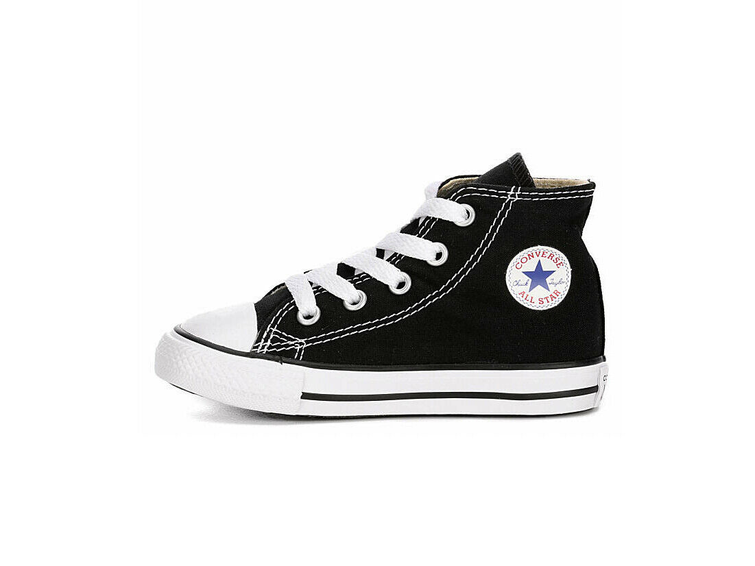 Converse Infants Babies Toddlers Boys Girls All Star Chuck Taylor Black Shoes 4