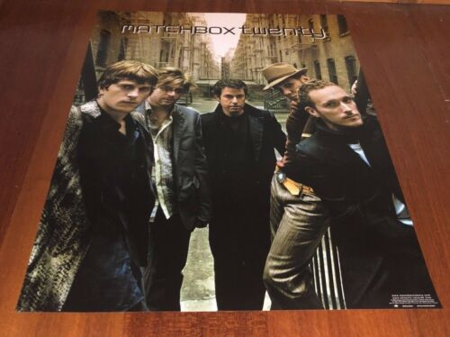 MATCHBOX TWENTY 2002 MORE THAN YOU THINK YOU ARE ORIGINAL PROMO POSTER 24x18
