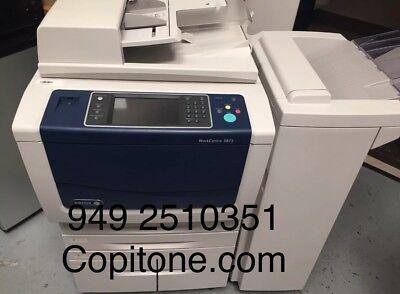 Xerox Wc 587558555890workcentercopierprintercolor Scancleanfinisher