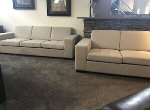 Modern fabric sofa and Loveseat (BRAND NEW)