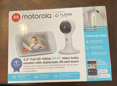 "Motorola - Video Baby Monitor with Wi-Fi camera and 5"" Screen - White"