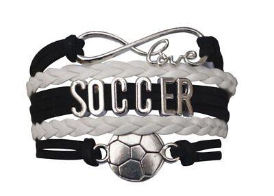 Soccer Bracelet , Adjustable Soccer Jewelry, Perfect Soccer Gifts - Soccer Bracelet