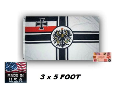 *USA MADE GERMAN GERMANY IMPERIAL EMPIRE WAR ENSIGN Deutschland WW1 FLAG Banner