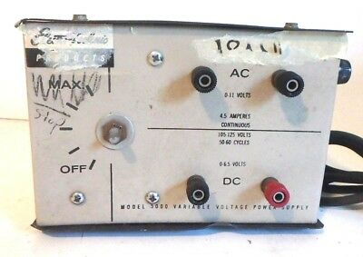 Electro-technic Variable Voltage Power Supply Model 5000 Ac Dc