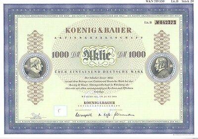 König & Bauer AG 1000DM Würzburg  1994