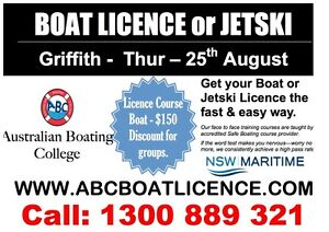 NSW Boating Licence Course & Jetski Griffith Griffith Area Preview