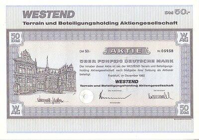 Westend Terrain u.Beteiligungsholding  AG 1982 Frankfurt