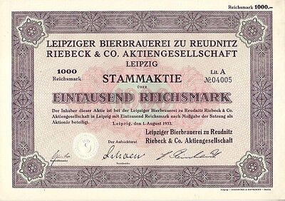 Leipziger Bierbrauerei zu Reudnitz Riebeck & Co. AG  1933