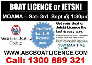 MOAMA - NSW BOAT LICENCE COURSE & JETSKI Moama Murray Area Preview