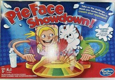 Hasbro Pie Face Showdown Board Game | Mash Your Button Fast To Cream Opponent