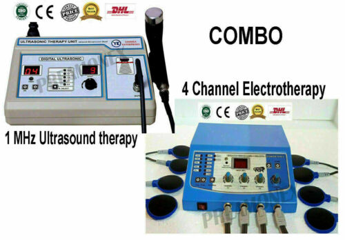 Ultrasound Therapy 1MHz Machine Electrotherapy 4-Ch Pain Relief Combo Unit -RFXF