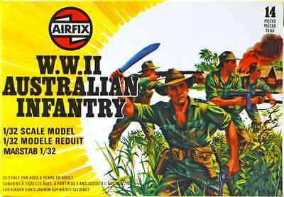 Airfix WWII Australian Infantry #51558-14 - set of 14 figures mint in box
