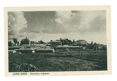 ADDIS ABEBA QUARTIERE INDIGENO ETIOPIA AFRICA ORIENTALE COLONIE D'ITALIA ANNI 30