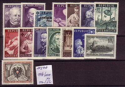 Österreich   **  996/1011       Michel  116.-    K  10390