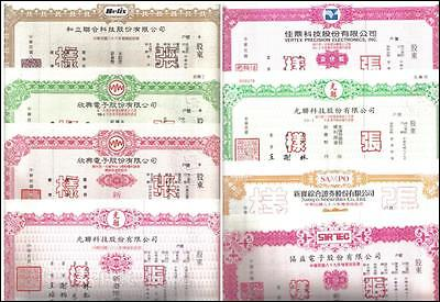 China Taiwan Fomosa Large RARE Lot 100+ SPECIMEN bonds 1990 th Collection EF