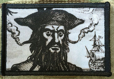 Pirate Hooks (Blackbeard the Pirate Morale Patch Tactical Military USA Hook Badge Army)