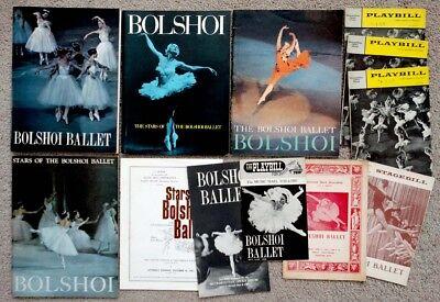 1950's 1960's Vintage STARS OF THE BOLSHOI BALLET Archive PROGRAM LOT Swan Lake
