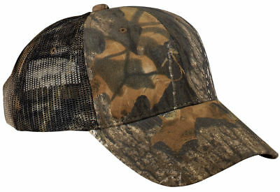 Port Authority Pro Camouflage Camo Hat Cap Mesh Back Hunting Hat Trucker. (Camouflage Pro Mesh Cap)