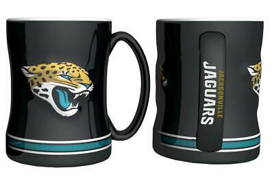 Jacksonville Jaguars 15oz Sculpted Relief Coffee Mug [NEW] Tea Cup Hot Ceramic