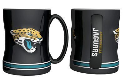NFL Jacksonville Jaguars Sculpted Relief Coffee Mug Boelter Brands 14 Ounce