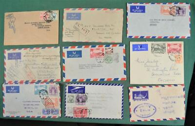 BURMA STAMP COVERS SELECTION OF 9   (Z19)