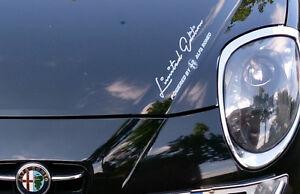 Limited Edition Powered by Alfa Romeo Motorsport Aufkleber Sticker Sport Mind