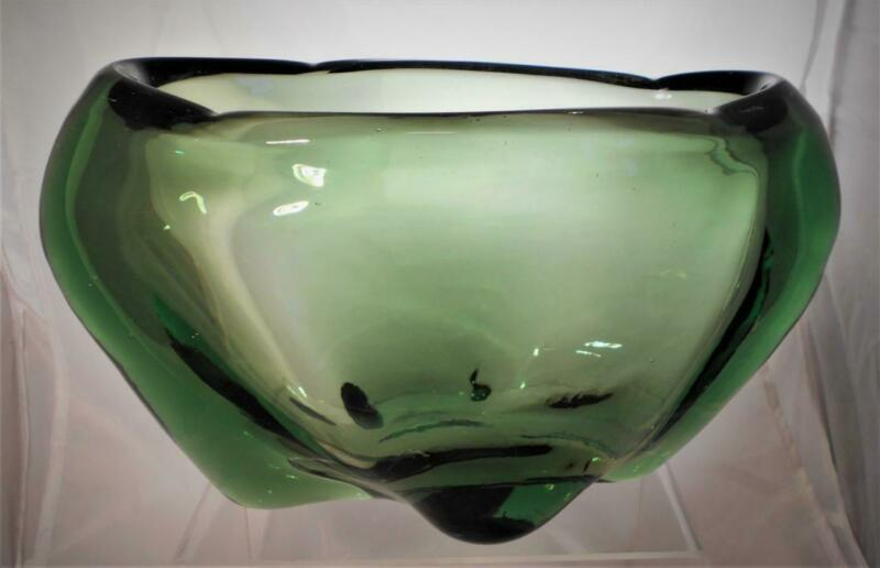 Rare Vintage Art Glass Vase By James Hogan For Whitefriars Great Item 1940-46