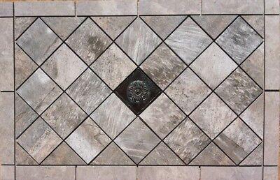 """34 3/4"""" x 22 3/8"""" Tile Medallion mosaic - Daltile Porada & Affintiy tile"""