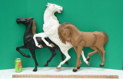 Vtg Wild Horses Burwood WILD MUSTANGS Horses Stallions WALL HANGING Plaque decor