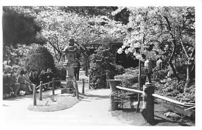 Tea Garden Golden Gate Park - RPPC Oriental Tea Garden, San Francisco, CA Golden Gate Park ca 1940s Postcard