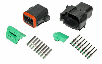 Deutsch Dt 8 Pin Black Connector Kit 14 Ga Solid Contacts