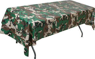 Woodland Camouflage Plastic Multi Use Tablecloth
